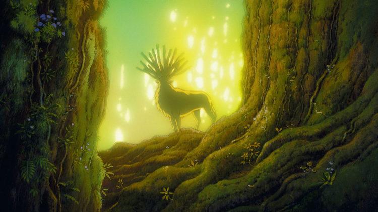 Skogen er et magisk sted med både guder,  artige krabater og noen meget sinte dyr.  (Foto: Arthaus, Studio Ghibli)
