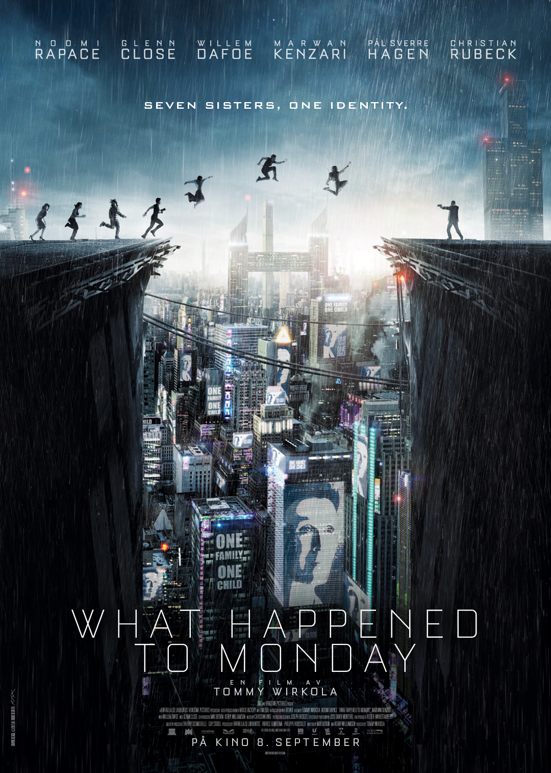 What happened to Monday? Wirkolas nye film - med Noomi Rapace  i hele syv roller