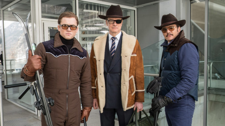 "Taron Egerton, Colin Firth og Pedro Pascal i ""Kingsman: The Golden Circle"". (Foto: Twentieth Century Fox)"