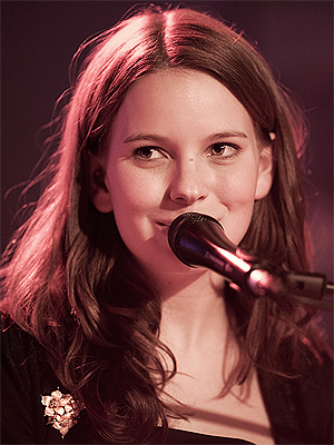 Marit Larsen på P3Session. Foto: Kim Erlandsen, NRK P3.