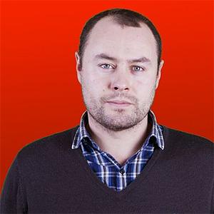 Marius Asp er vaktsjef og anmelder i P3. Foto: Kim Erlandsen, NRK P3.