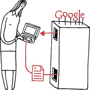 Når Google endrer sin søkealegoritme endrer de prioriteringen på de resultatene du får ut av et søk. Illustrasjon: Google.com.