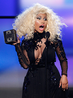 Nicki Minaj hadde på forhånd flest nominasjoner, sammen med Rihanna, men fikk «bare» to. Foto: NTB Scanpix / Danny Moloshok, Reuters.