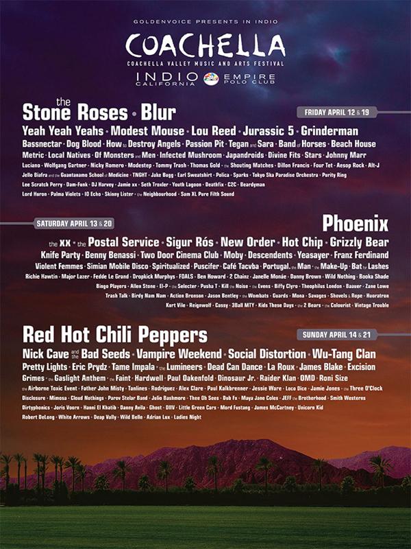 Coachella sin lineup for 2013. (Foto: Promo)