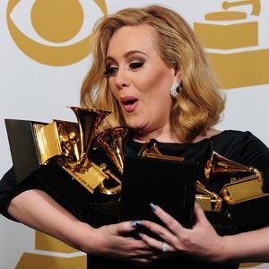 Adele vant seks Grammy-priser i fjor. (Foto: Scanpix, afp, Frederic J. Brown)