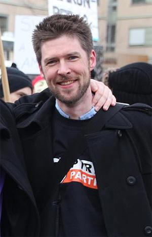 Øystein Middelthun er styremedlem i Piratpartiet Norge. Foto: Piratpartiet Norge.