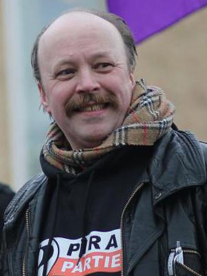 Partileder i Piratpartiet, Geir Aaslid. Foto: Piratpartiet.