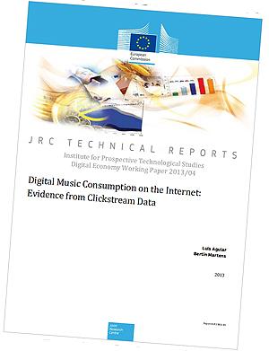 Rapporten fra EU-kommisjonen som konkluderer med at ulovlig nedlasting og fildeling kanskje ikke er så farlig for den lovlige digitale omsetninga. Foto: Skjermdump.