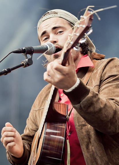 Mikhael Paskalev under Youngwood 2013. (Foto: Rashid Akrim, NRK P3)