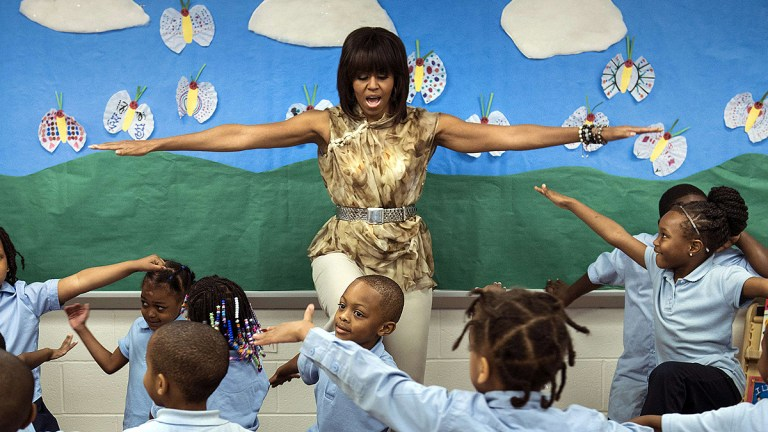Michelle Obama gir ut hiphop