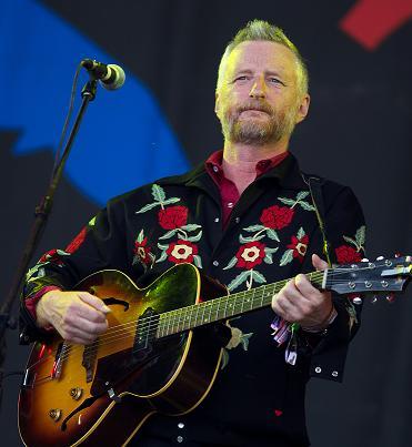 Billy Bragg på årets Glastonbury-festival, foto: ScanpixNTB/Andrew Cowie/AFP.