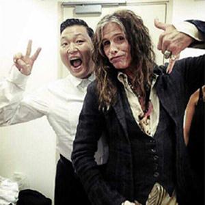 Psy og Steven Tyler har møttes tidligere. (Foto: @psy_oppaofficial/instagram)
