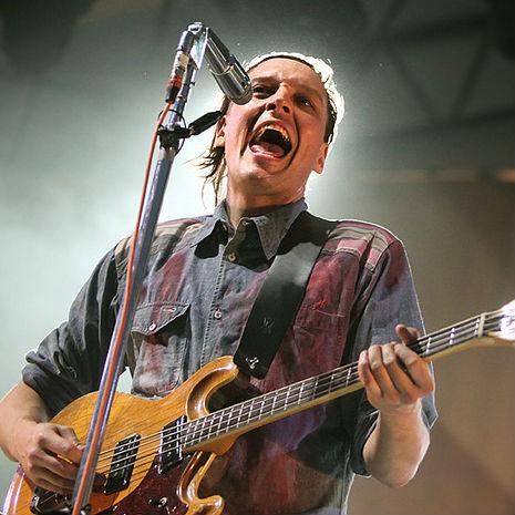 Vokalist Win Butler fra Arcade Fire. (Foto: Kim Erlandsen, NRK P3)