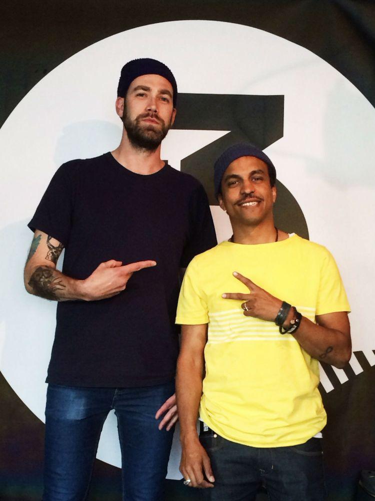 Timbuktu besøkte Ruben på P3 der han blant annet snakket om at Norge mangler kvinnelige rappere. Foto: Trine Solli, NRK P3