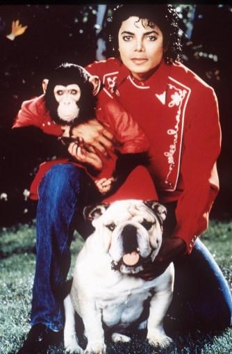Michael og sjimpansen Bubbles. Foto: AP