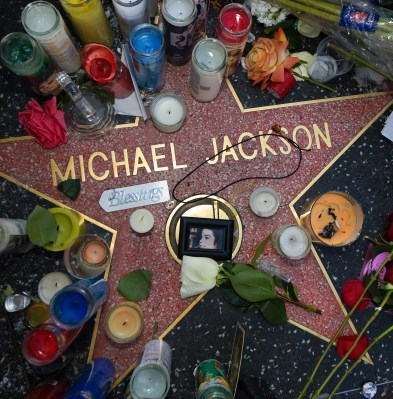 Hollywood walk of fame. Michael Jackson. Foto: NTB Scanpix