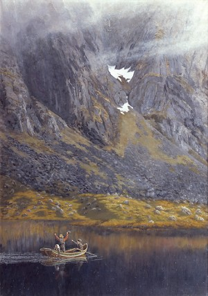 «Ekko» av Theodor Kittelsen 1888. (Foto: Museumsnett.no, Wikimedia Commons)