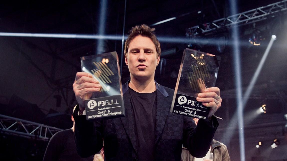 OnklP med to priser på fjorårets P3 Gull. Foto: NRK P3