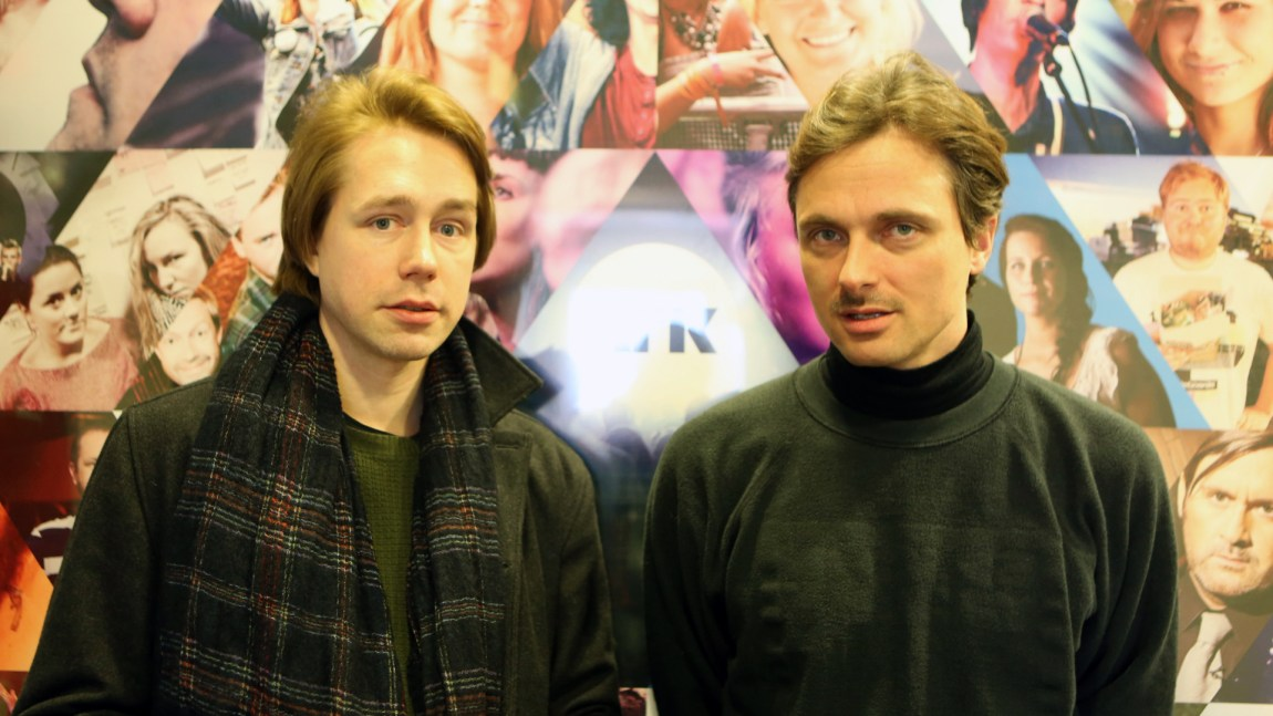 Mew tok turen til P3 for å snakke om det kommande albumet sitt. (Foto: Tor-Erik Humlen, NRK P3)
