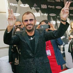 En fornøyd Ringo Starr. Foto: NTB Scanpix, AFP, Mike Coppola