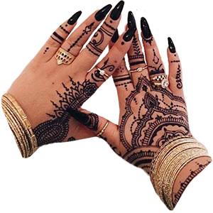 Mange i den vestlige verden smykker seg nå med indiskinspirert henna. (Foto: Annika Sofie Eliassen/ @annika.sofie)