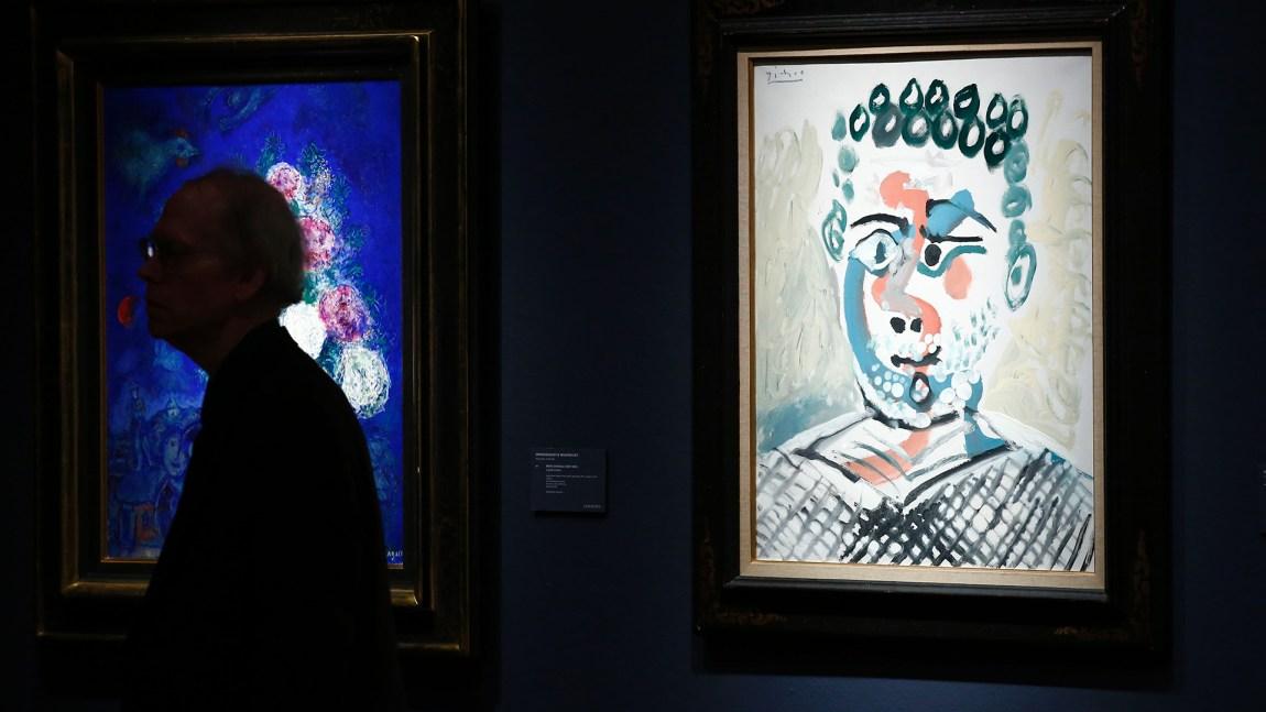 Picasso tok inspirasjon fra Ashantifolket i Ghana i Afrika og grunnla den kjente europeiske kunstformen Kubisme.(Foto: Kena Betancur, Scanpix/Afp)