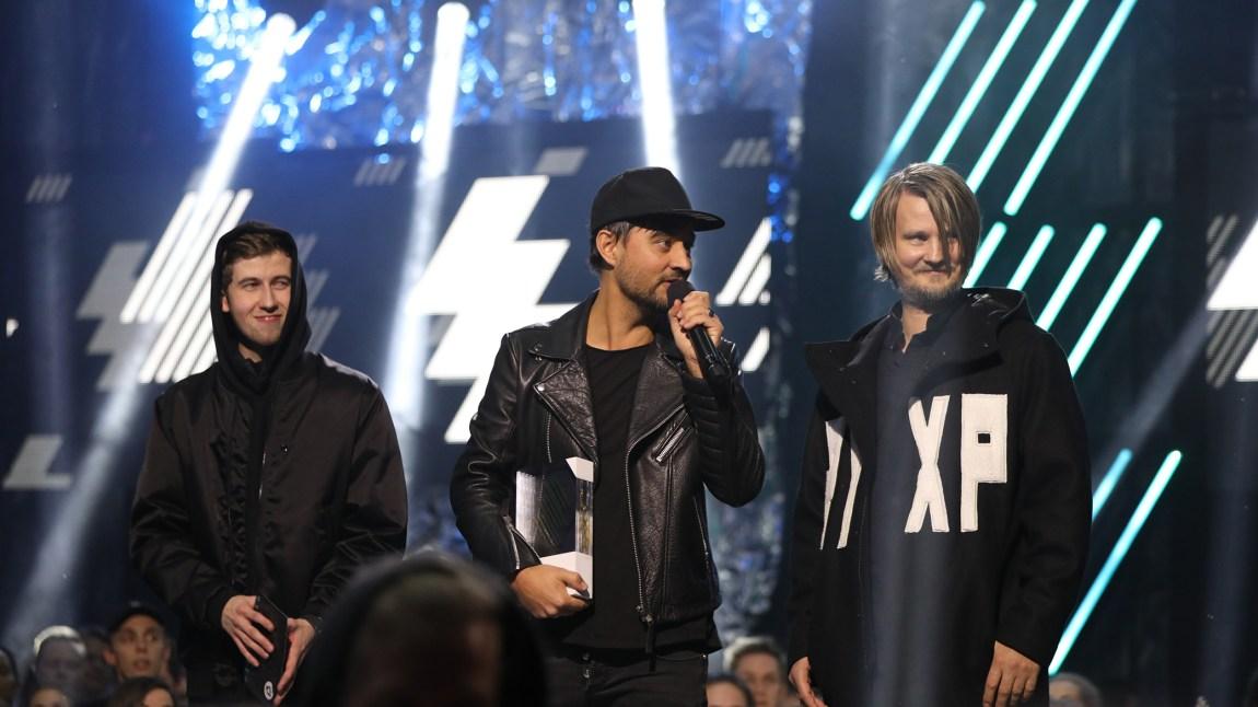 Röyksopp vant P3-prisen under årets P3 Gull. Foto: Tom Øverlie, NRK P3.