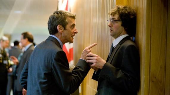 """Peter Capaldi og Chris Addison i """"In The Loop"""" (Foto/Copyright: Tour de Force)."""