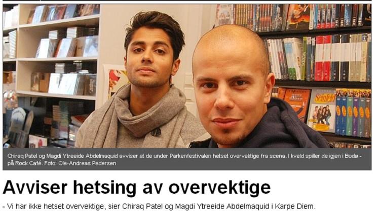 Karpe Diem avviste kritikken i Avisa Nordland, hvor leserinnlegget først ble trykket. (Faksimile fra www.an.no)