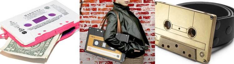 Kassetten er blitt til vesker, lommebøker og beltespenner. (Foto: Designboom.com)