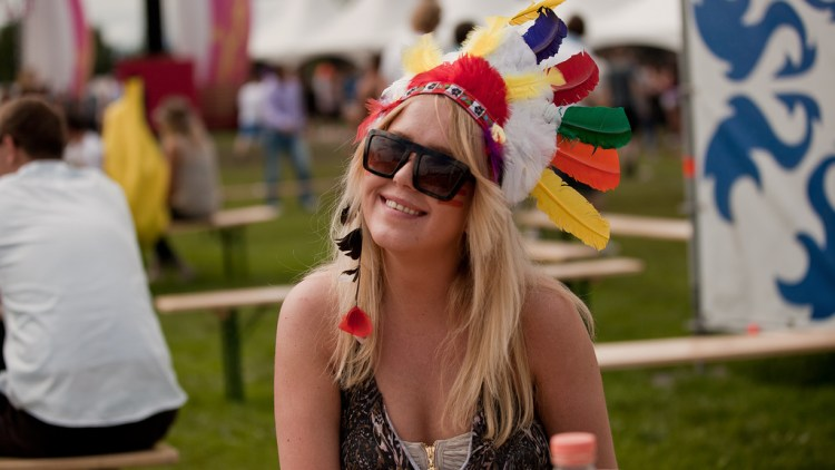 Cecilie Torp har tatt på seg indianermanken for Extrema-anledningen. (Foto: Rashid Akrim)