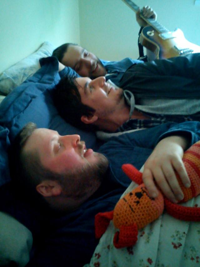 Trioen deler alt. (Foto: Privat)