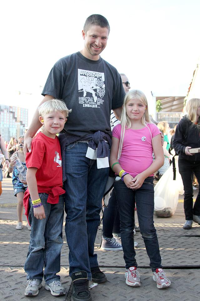 Kristian (7), Ola og Frida (8) Brandser. (Foto: Karina Lystad, NRK P3)