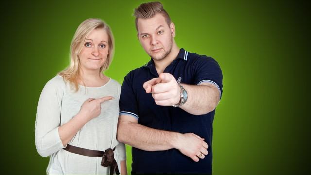 Tuva Fellmann og Jørn Kaarstad i Hallo P3. (Foto: NRK)