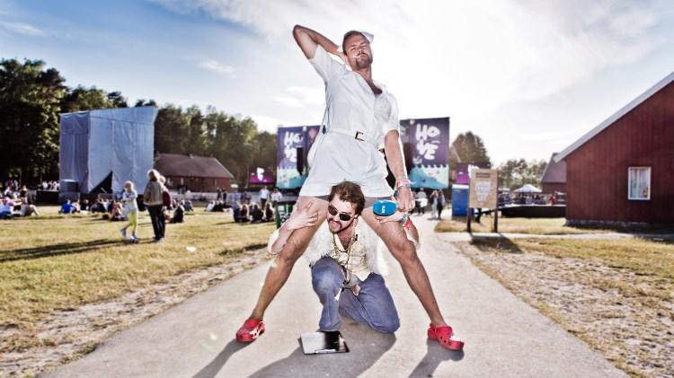 Lars og Olli utgjør Festivalhjelpen. (Foto: Kim Erlandsen, NRK P3)