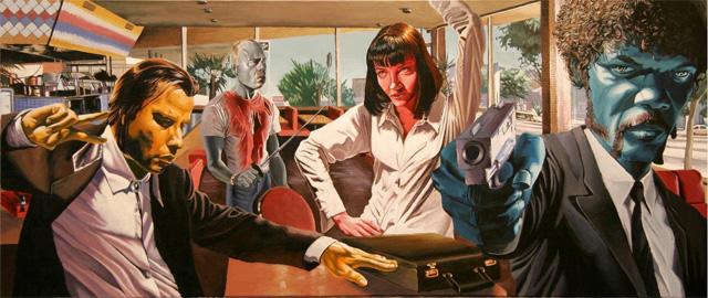 Pulp Fiction (Illustrasjon: Justin Reed, http://www.justinreedart.com/)