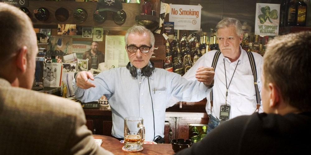 Martin Scorsese instruerer på settet under innspillingen av The Departure
