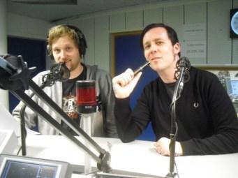 Totto og Tarjei i studio i Bergen, januar 2012