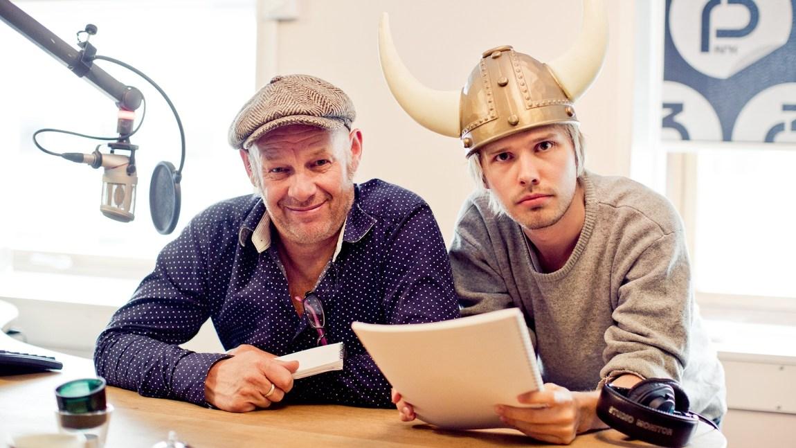P3bursdag:Espen Thoresen og produsent Jonas Jeremiassen Tomter. Foto: Tom Øverlie.