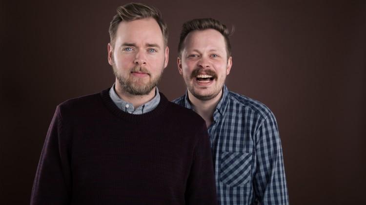 Tore Sagen og Einar Tørnquist lager P3-podkast sammen. Foto: Kim Erlandsen NRK.