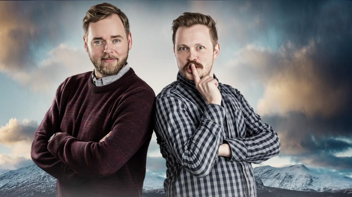 Mandag 17. januar får du første episode av Tore og Einars podkast om Norge. Foto: Kim Erlandsen/NRK.