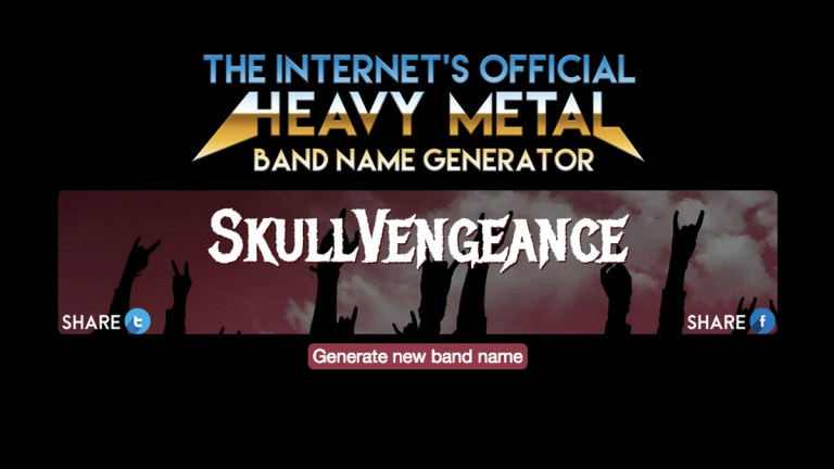 The official heavy metal band name generator