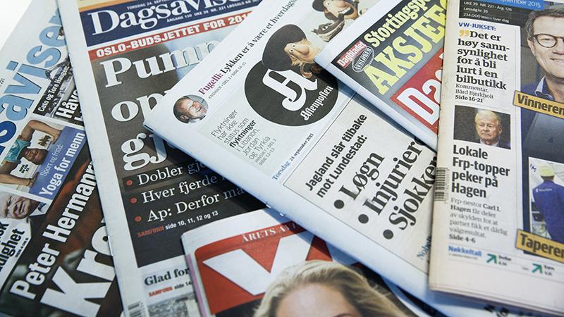 Det var moro så lenge det varte, kjære aviser! <3 Foto: Berit Roald / NTB Scanpix