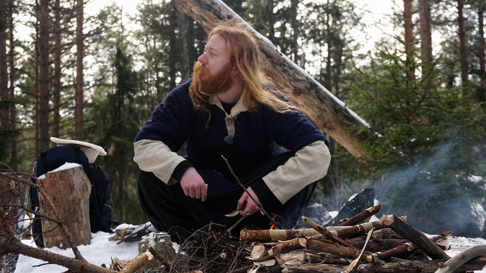 Tok med seg teltet og flyktet til skogs