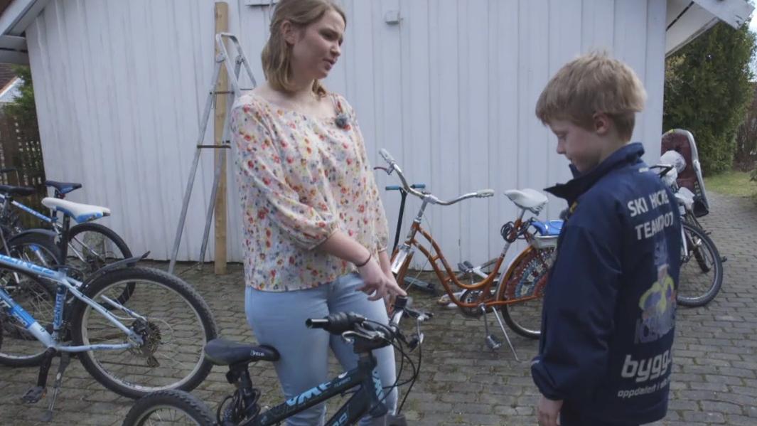 – Du får ikke ny sykkel av meg