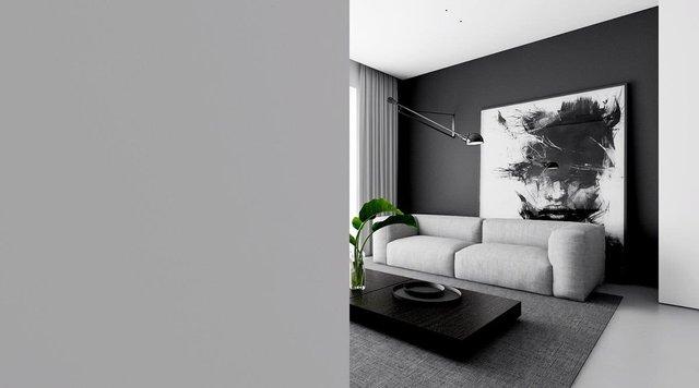 kitchen ceiling fixtures home depot kraftmaid cabinets 室内设计 4个单色 简约的空间 营造黑白魔法 快资讯 从地板到天花板的橱柜笔直地立着 线条优美 遵循着极简主义的路线 细长的吊灯悬挂在厨房的长凳上 最终形成了一个三叉的设计 一个黑色的炉子 凳子 和固定装置 都