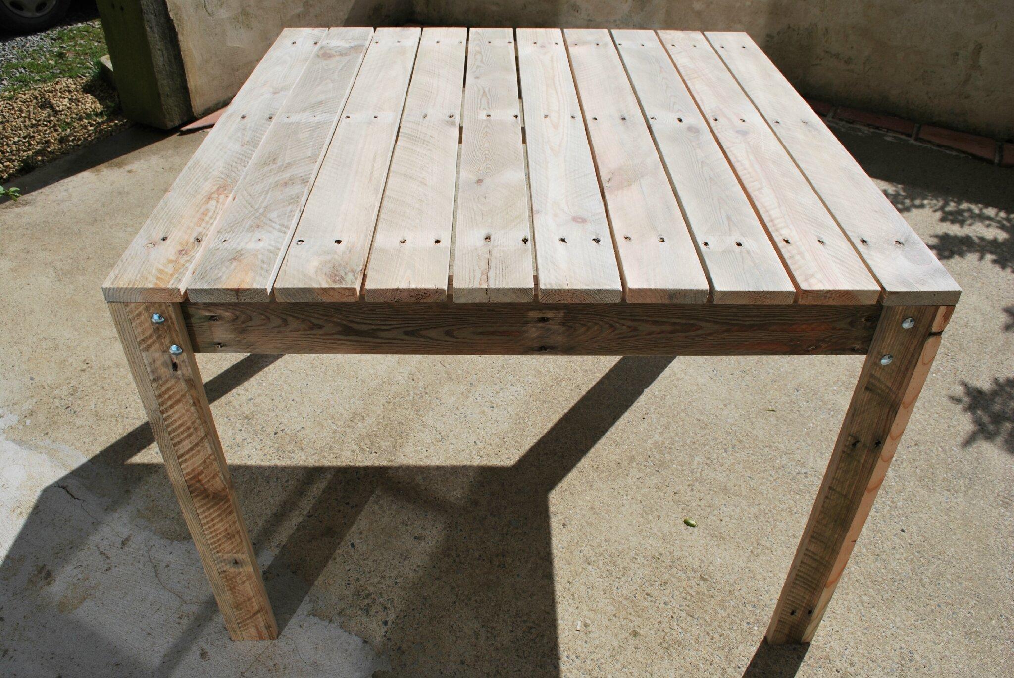 Faire Une Table De Jardin En Bois | Comment Faire Une Table En ...