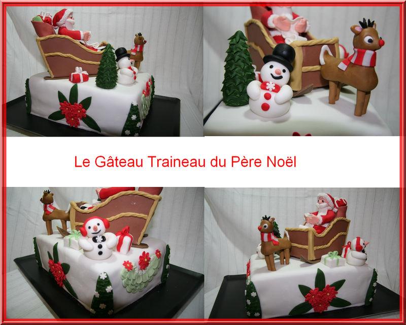 Le Gteau Traineau Du Pre Nol LES GATEAUX CREATIFS DE VAL
