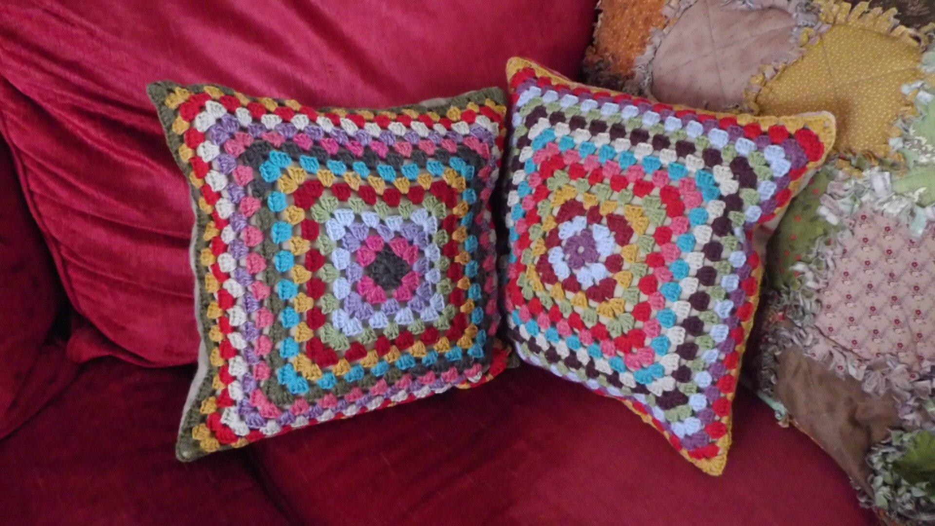 crochet coussins le blog de losri