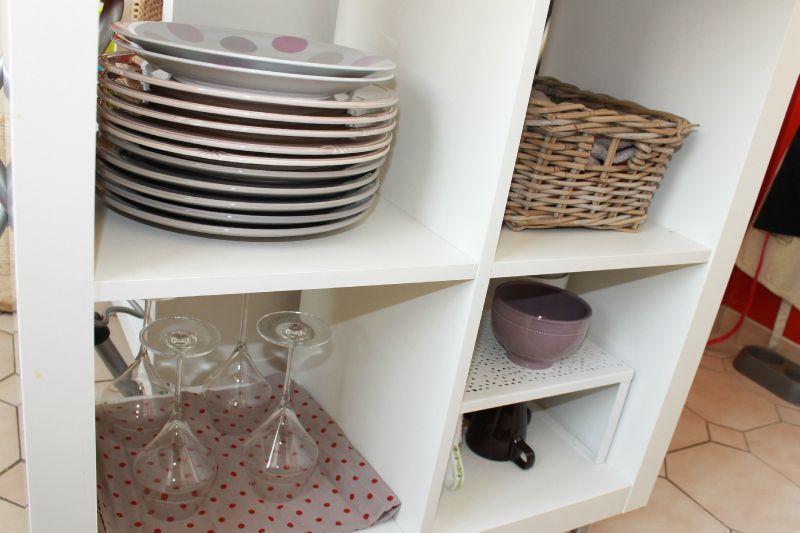 meuble cuisine rouge pas cher